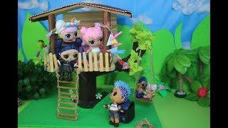 Куклы лол и Домик на дереве. Мультик про куклы LOL SURPRISE. MC Family