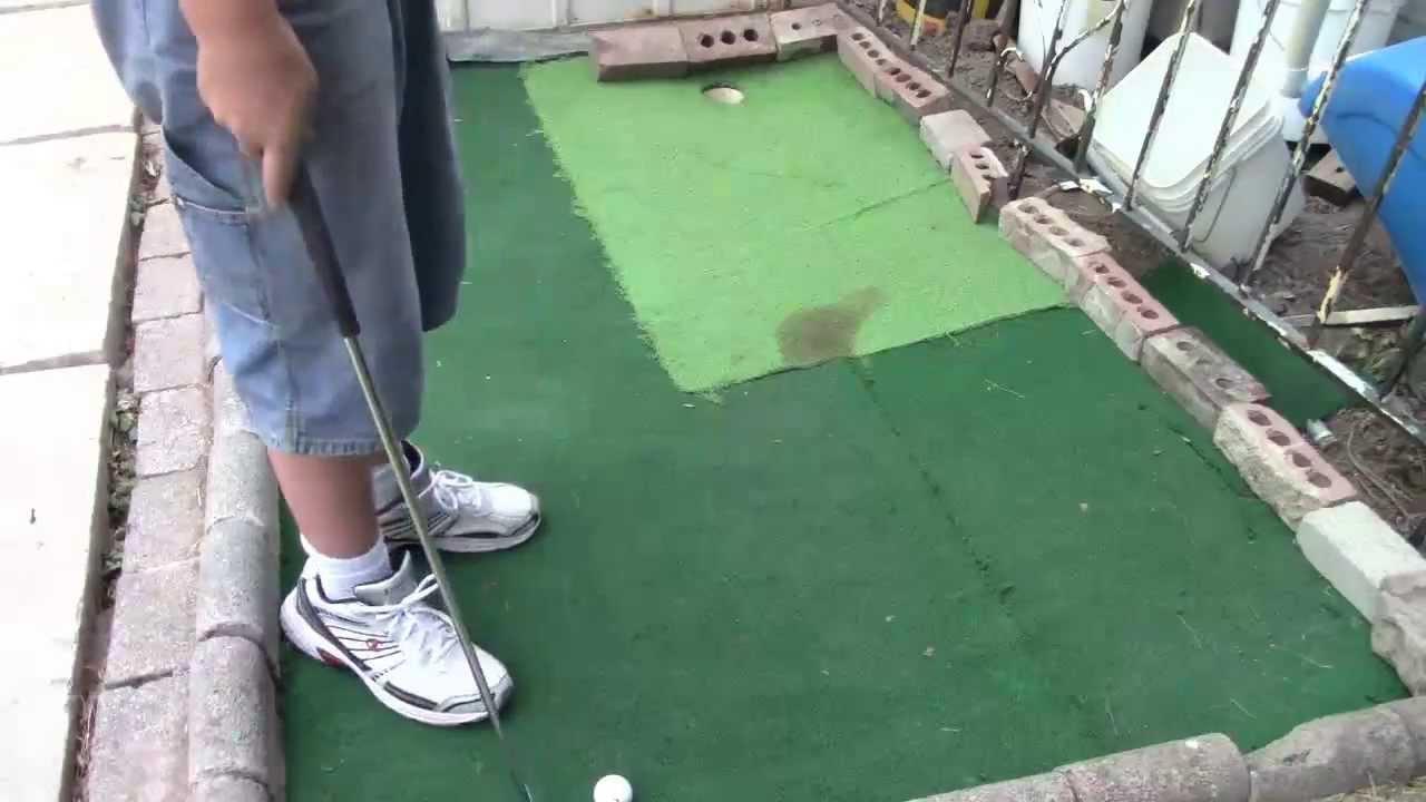 backyard mini golf update youtube