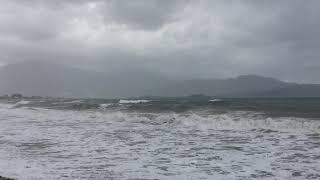 Çalış plajı kış Deniz dalgası / winter in Fethiye Calis beach sea waves