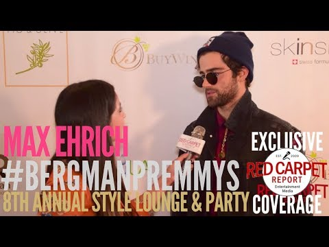 Max Ehrich, 4x Emmy Nominee at Doris Bergman's 8th Style Lounge & Party in Celebrating Emmys