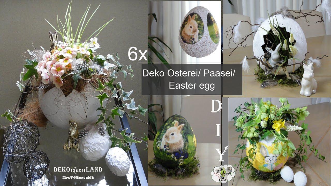6 DIY Osterdeko: Deko Ostereier aus Toilettenpapier | Basteln mit Papier | Easter eggs DekoideenLand