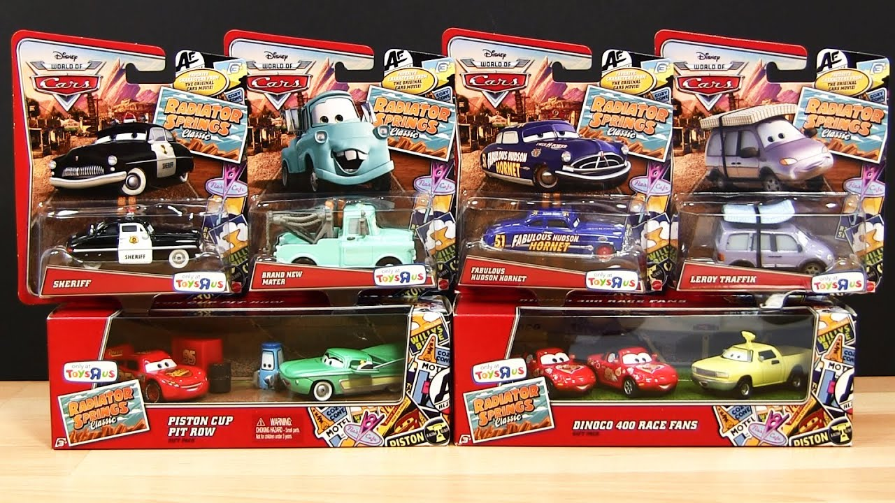 Toy Cars Toys R Us 10 Radiator Springs Classics Jay W Flo Lightning Mcqueen