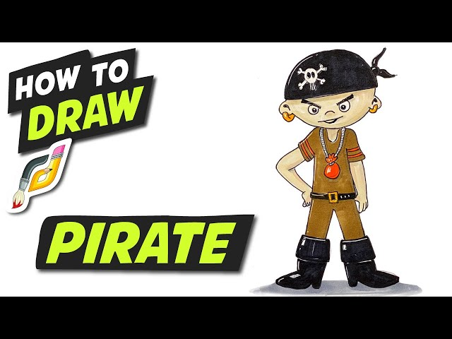 How to Draw PIRATE - Fun Easy Simple step by step -Beginner