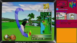 Waialae Country Club: True Golf Classics: Game 16 of 296 Nintendo 64 Games Completed Live!