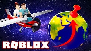 Roblox Adventures - DENIS & CORL FLY AROUND THE WORLD IN ROBLOX! (World Expedition)