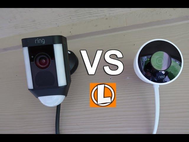 Nest Outdoor Cam Vs Ring Spotlight Camera Wifi Security Cameras Comparison Youtube