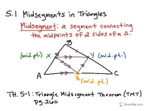 How To Math 5 1 Midsegments In Triangles Youtube