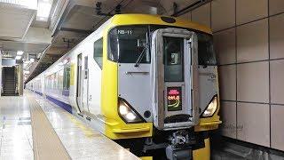 【E257系】 東京駅 京葉線発車メロディ+特急「わかしお5号」 発車 / JR東日本