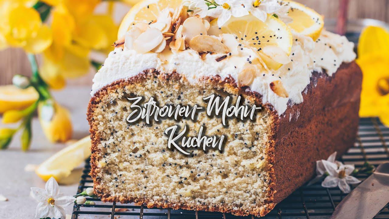 Zitronen-Mohn-Kuchen Rezept - vegan