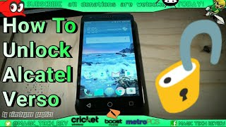 How to Unlock Alcatel Verso Cricket Wireless To Any GSM Network