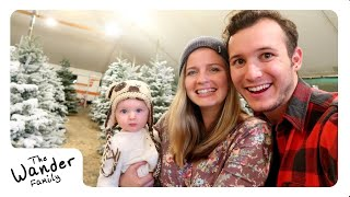 BABY'S FIRST CHRISTMAS TREE! | The Wander Family