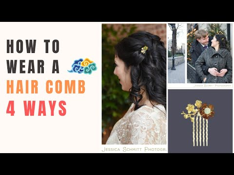 How To Wear a Hair Comb 4 Ways | Hairstyle Tutorial