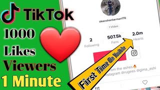 How To Get 1K Fans On Tik Tok In 1 Minute