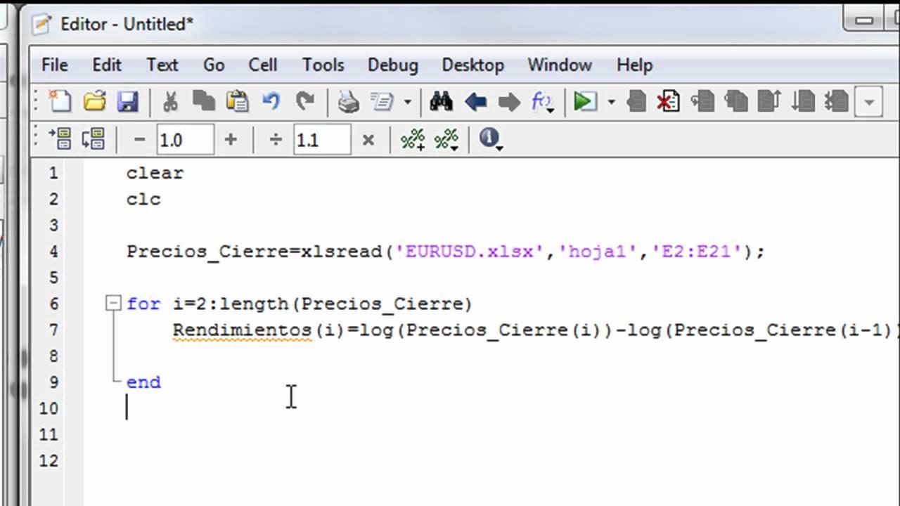 Tutorial - Cómo crear bucles en Matlab: sentencia FOR