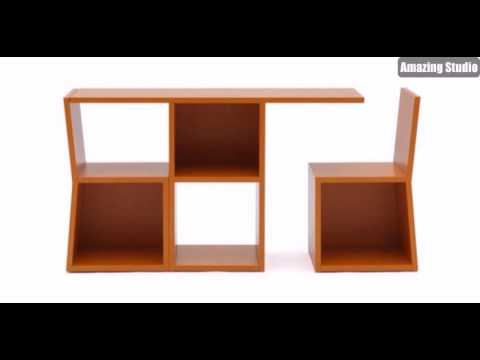 platzsparende m bel regale aus holz youtube. Black Bedroom Furniture Sets. Home Design Ideas