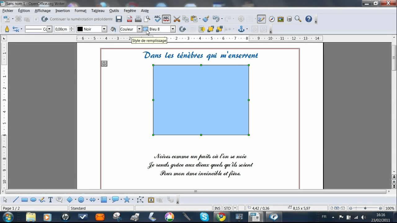 Open Office Encadrer Une Image Suite