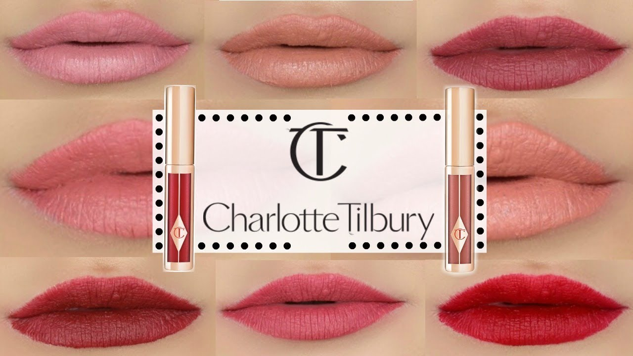 NEW CHARLOTTE TILBURY HOLLYWOOD LIPS  SWATCHES  REVIEW