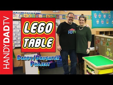 Lego Table - a Daddy/Daughter project