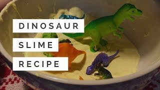 Dinosaur slime recipe - see what happens when you make dinosaurs in amber slime!