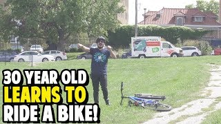 30 Year Old Learns to Ride a Bike!