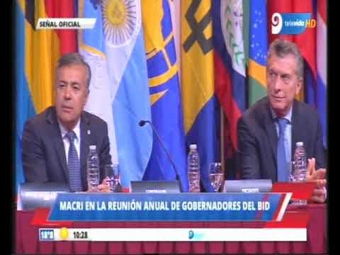 Reunión del BID en Mendoza / Mauricio Macri y Luis Alberto Moreno / 24-03-2018