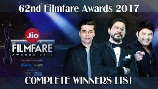Filmfare Awards 62nd Of 2017 ► Top 10z