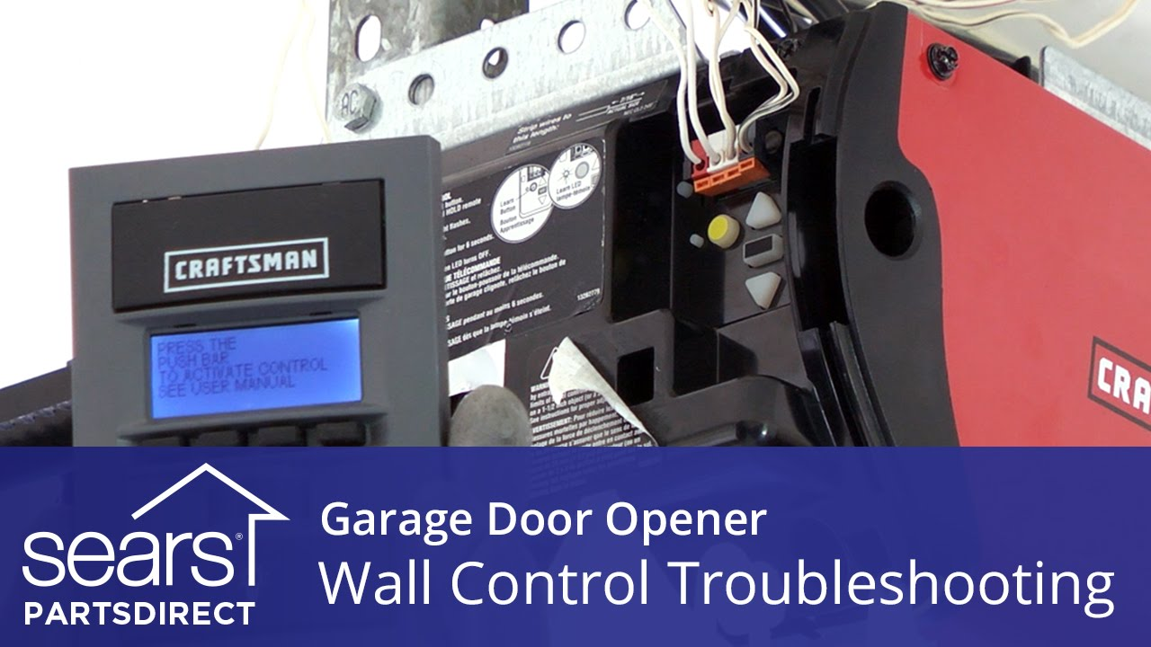 Garage Door Opener Doesn T Work Wall Control
