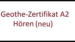 Goethe A2 New Pattern Lesen