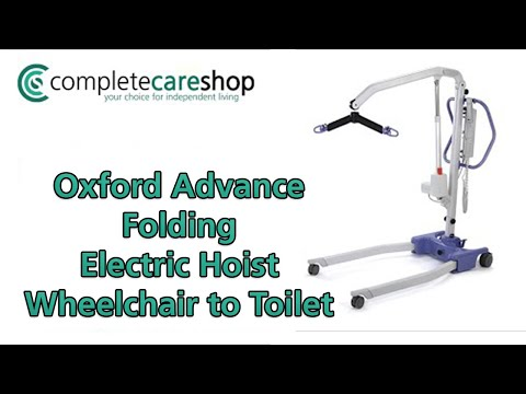 Oxford Advance Folding Electric Hoist - From wheelchair to toilet