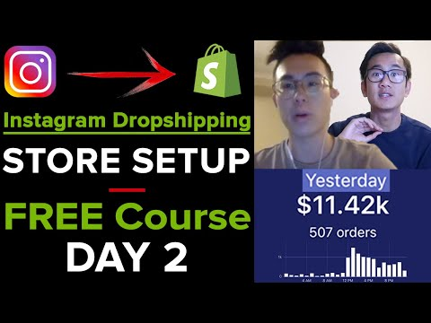 [Free Course 2/21] Instagram Dropshipping – Shopify Store Set Up LIVE thumbnail