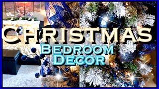 Christmas Bedroom Decor | Blue & Gold Christmas Decor | Collab with Kenyas Decor Corner