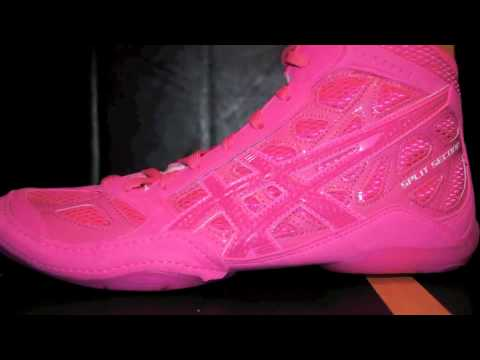 all pink asics wrestling shoes