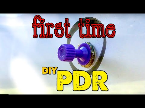 DIY - First Time Paintless Dent Repair For Beginners - PDR Door Ding Pull