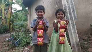 MAGGI MASALA NOODLES EATING MY SON & MY DAUGHTER | INDIAN FOOD EATING |