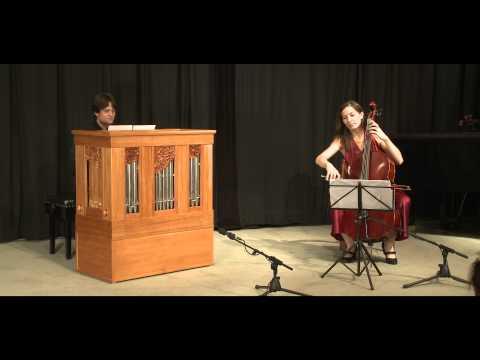 Live concert on a Vagi Continuo Organ and Cello: Caix de Hervelois - Suite II D minor: III. Menuett