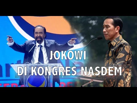 LIVE - Usai Sindir Surya Paloh, Jokowi Tutup Kongres Nasdem