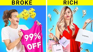 Rich Girl vs Broke Girl / Black Friday`s Awkward Situations!