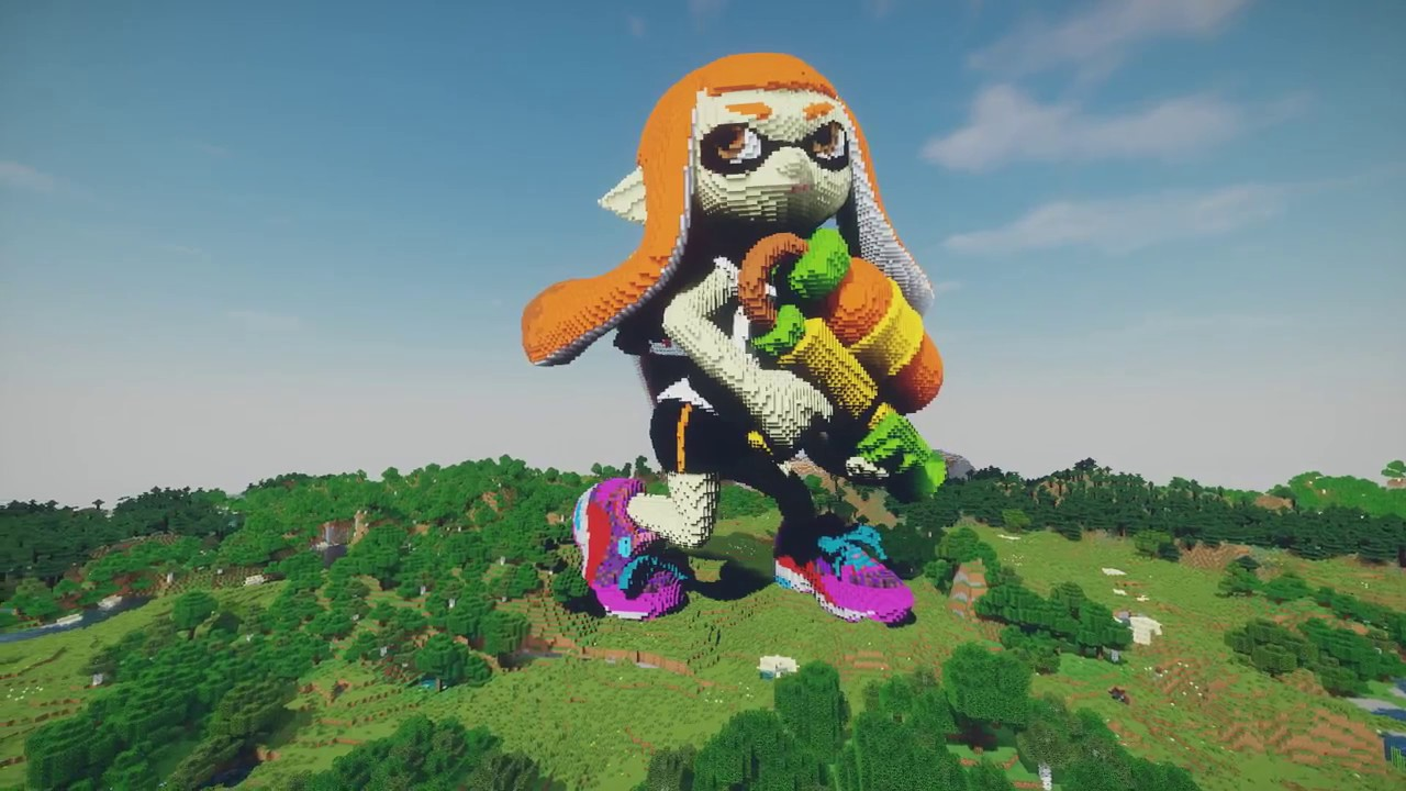 Minecraft Splatoon Inkling Girl Build Splatoon