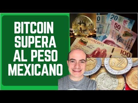 BITCOIN SUPERA AL PESO MEXICANO (En Capitalización De Mercado)