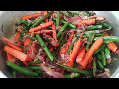 የፎሶሊያና ካሮት ጥብስ Green Beans & Carrots Recipe Ethiopian Food Fasolia