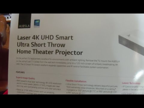 LG HU85L 4K Ultra Short Throw Projector launch demo event at VE