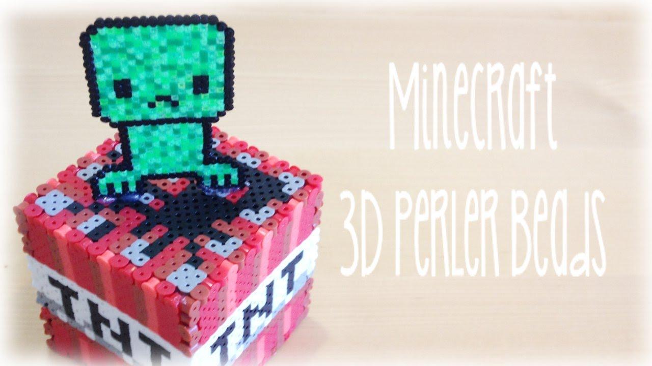 diy minecraft 3d perler bead cube creeper diy minecraft 3d perler bead cube creeper