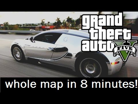 gta v 5 bugatti veyron driving around whole map in 8 min gameplay montage youtube. Black Bedroom Furniture Sets. Home Design Ideas