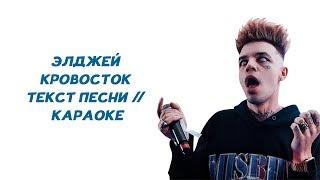 Элджей Кровосток ТЕКСТ ПЕСНИ КАРАОКЕ lyrics