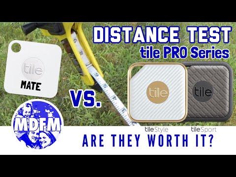 tile mate vs tile pro series distance test