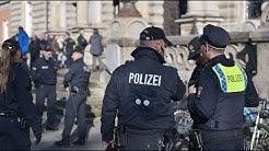 POLIZEI IM EINSATZ: Messerattacke am Hamburger Landgericht