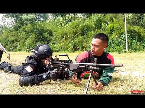 IARMI - Latihan Menembak Dengan Menggunakan Senjata Otomatis [SO/Minimi]