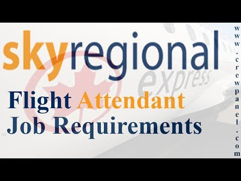 Sky Regional Airlines Flight Attendant Job Requirements | How to become a cabin crew in Canada