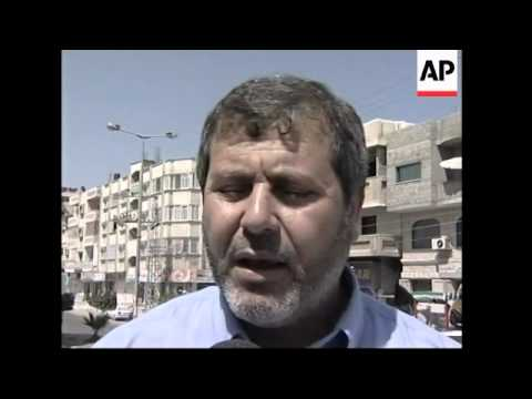Gaza street scenes, Erekat, demo, French leave