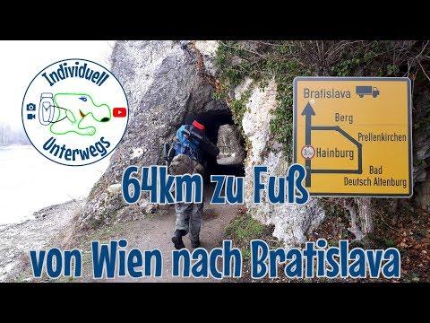 64km zu Fuß von Wien nach Bratislava | Nationalpark Donaauen | Overnighter | Bunker